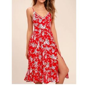 LULUS floral Midi Dress